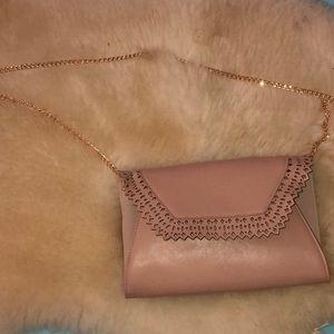 Blush Pink over the shoulder purse